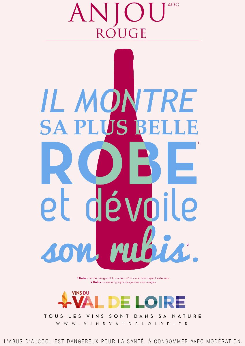 Affiche de l'Anjou Rouge, un vin aux notes de fruits rouges