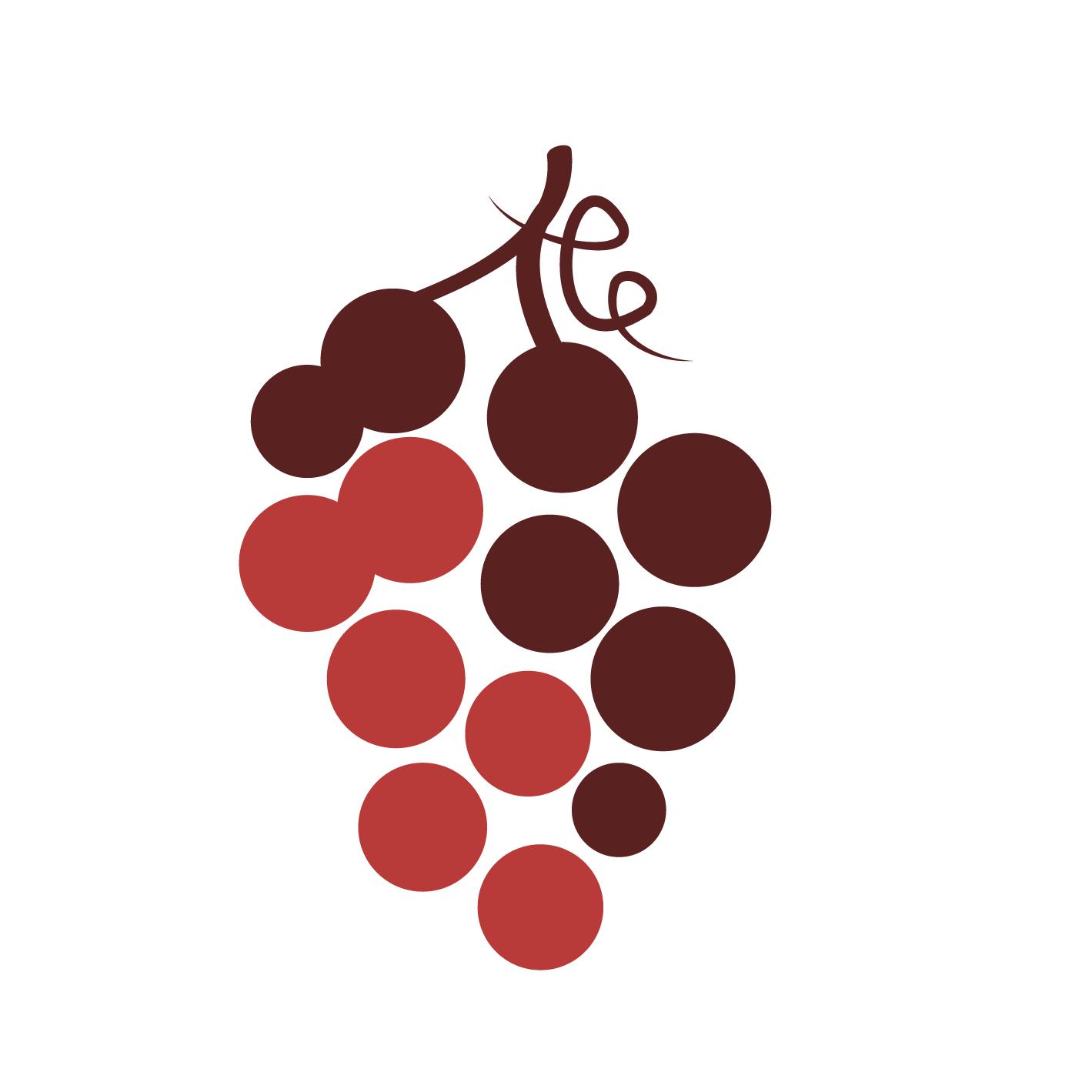 Silhouette d'une grappe de raisin rouge