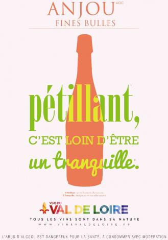Affiche de l'Anjou Fines Bulles, un vin pétillant