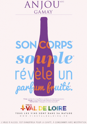 Poster of Anjou Gamay, a supple, fresh and aromatic red wine