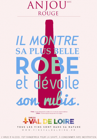 Poster of Anjou Rouge, a wine with notes of red fruits
