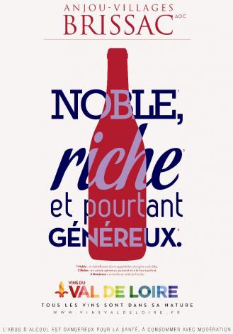 Affiche de l'Anjou Villages Brissac, un vin rouge riche et généreux