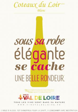 Affiche du Coteaux du Loir, un vin blanc à la robe élégante