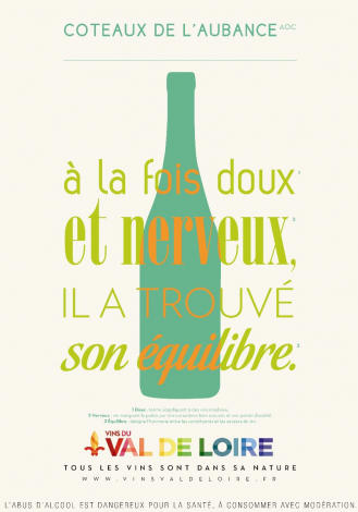 Poster of the Coteaux de l'Aubance, a powerful and generous wine