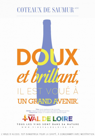 Poster of Coteaux de Saumur, a soft and shiny sweet wine