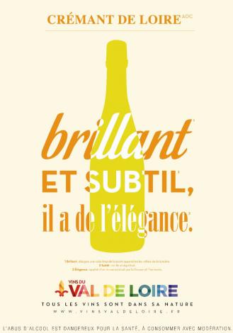 Affiche du Crémant de Loire, un vin brillant et subtil