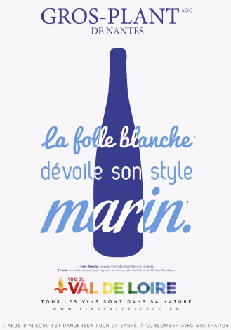 Poster of Gros-Plant de Nantes, a white wine revealing its marine style
