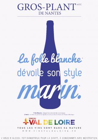 Affiche du Gros-Plant de Nantes, un vin blanc dévoilant son style marin