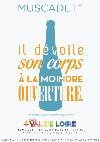 Affiche du Muscadet, un vin offrant une palette d'arômes très nuancés