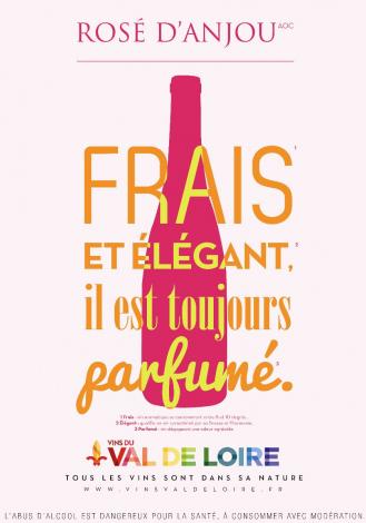 Affiche du Rosé d'Anjou, un vin rosé parfumé