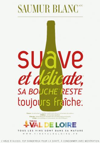 Affiche du Saumur Blanc, un vin blanc fin et bien équilibré