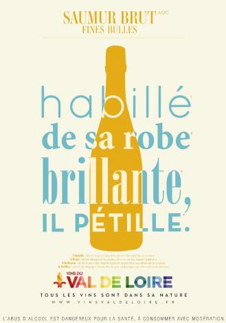 Affiche du Saumur Brut, un vin frais pétillant