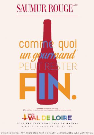 Affiche du Saumur Rouge, un vin aromatique aux tanins fins