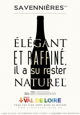 Affiche du Savennières, un vin blanc d'une grande fraîcheur à la persistance aromatique élevée