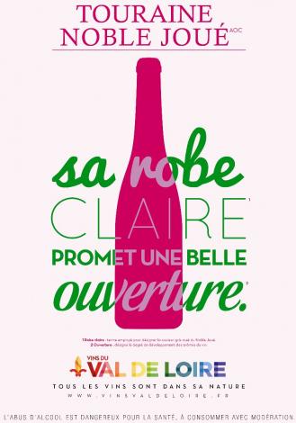 Affiche du Touraine Noble Joué, un rosé à la robe claire